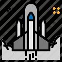 rocket, ship, spaceship, startup icon