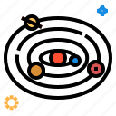 solar system, universe icon