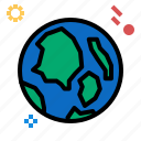 earth, planet, space, star icon