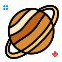 planet, saturn, space, star icon