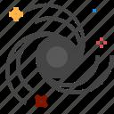 blackhole, hole, space icon