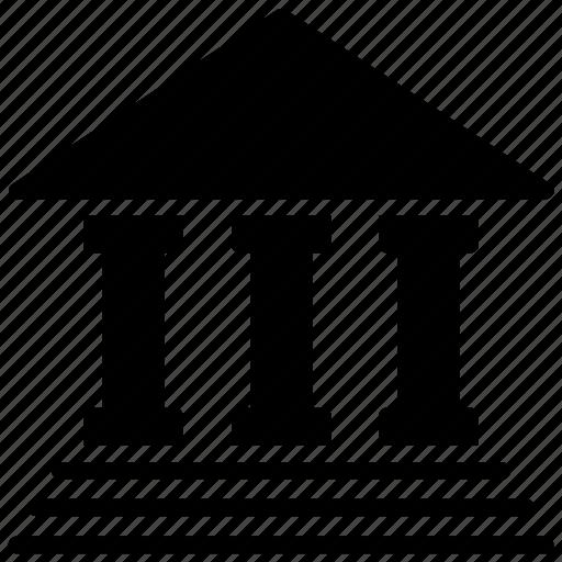 College, columns building, school building, secondary school, university icon - Download on Iconfinder