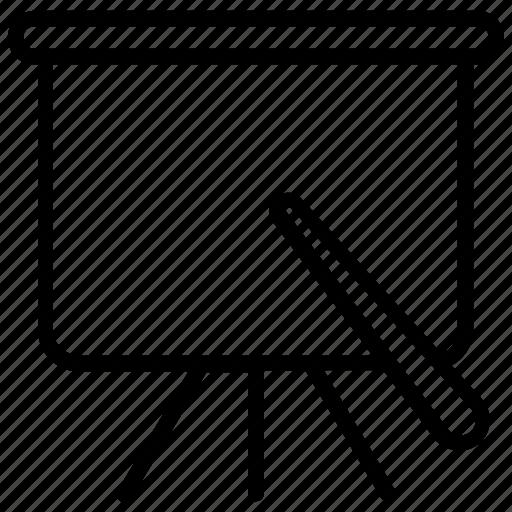 Blackboard, chalkboard, dry board, projection screen, whiteboard icon - Download on Iconfinder