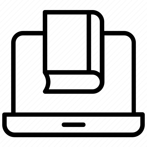digital encyclopedia, ebook, elearning, online education, online reading icon