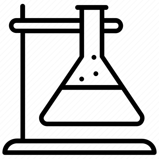 Conical flask, erlenmeyer flask, flask, laboratory, research icon - Download on Iconfinder