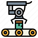conveyor, industrial, mechanical, robot icon