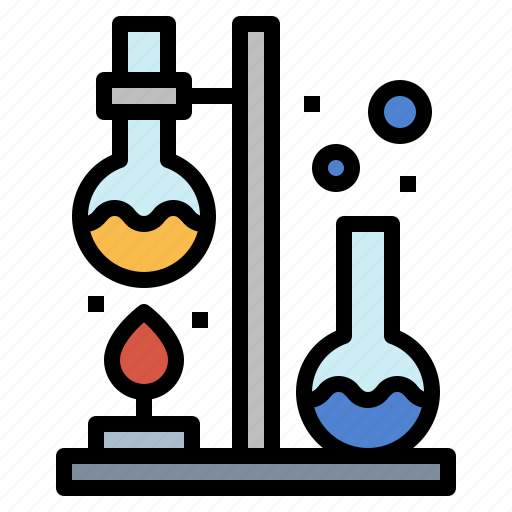chemical, flask, lab, science icon