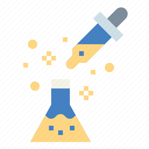 experimentation, flasks, lab, science icon