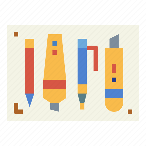 material, office, stationery, tools icon