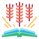 agriculture, book, education, farming, gardening icon
