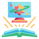 computer, education, elearning, online, science icon