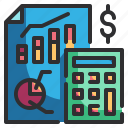 accounting, banking, business, finance, money icon