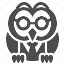owl, professor, teacher icon