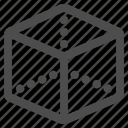 cube, geometry, math icon