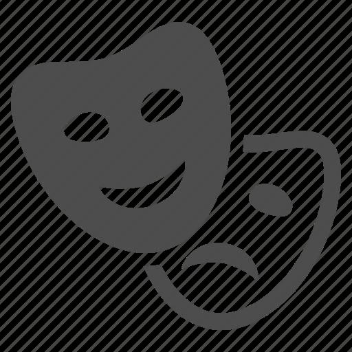 art, comedy, drama, entertainment, mask, theater, theatre icon