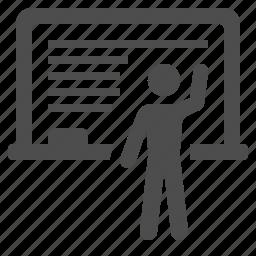 blackboard, chalkboard, classroom, education, school, teacher, teaching icon