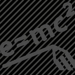 e = mc2, education, formula, physics, science, theory of relativity icon