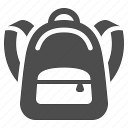 backpack, book bag, bookbag, rucksack, school bag, schoolbag icon