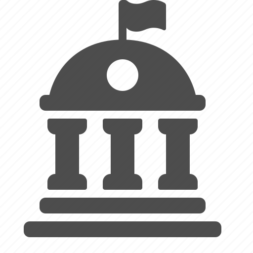 bank, building, college, courthouse, school, university icon