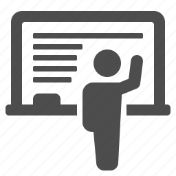 blackboard, classroom, education, school, student, teacher, writing icon