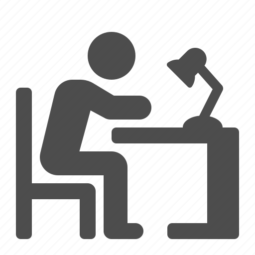 desk, education, homework, lamp, office, reading, student icon