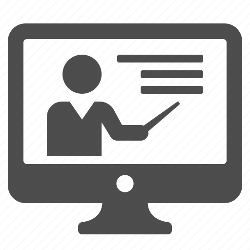 classes, computer, education, online, screen, teacher, tutorial icon