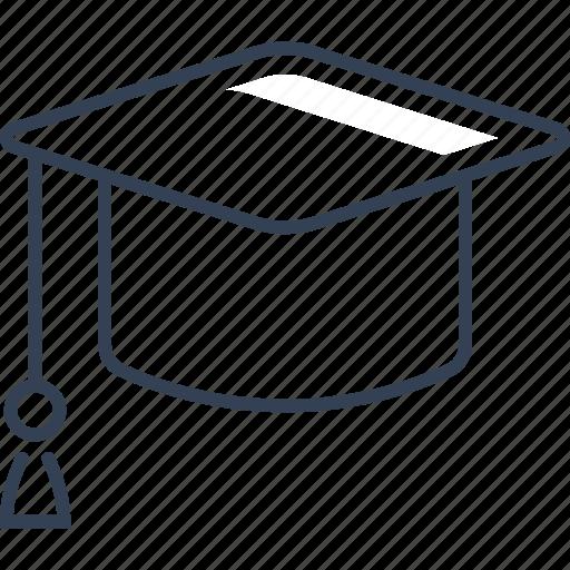 academy, cap, graduation, uneversity icon