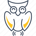 animal, bird, owl, uneversity icon