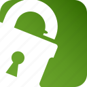 key, keyhole, lock, privacy, protection, security, unlock icon