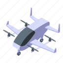 business, car, cartoon, flying, isometric, taxi, unmanned icon