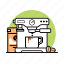 appliance, bean, cafe, coffee, drink, kitchen, machine icon