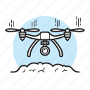 aircraft, camera, copter, drone, flying, photo, video icon