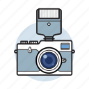 camera, flash, photo, photographer, photography, retro icon