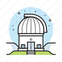 astronomy, building, research, science, space, telescope icon