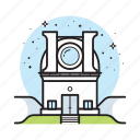 astronomy, building, lens, research, science, space, telescope icon