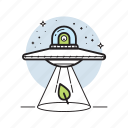 abduct, alien, flying, mystery, spacecraft, spaceship, ufo icon