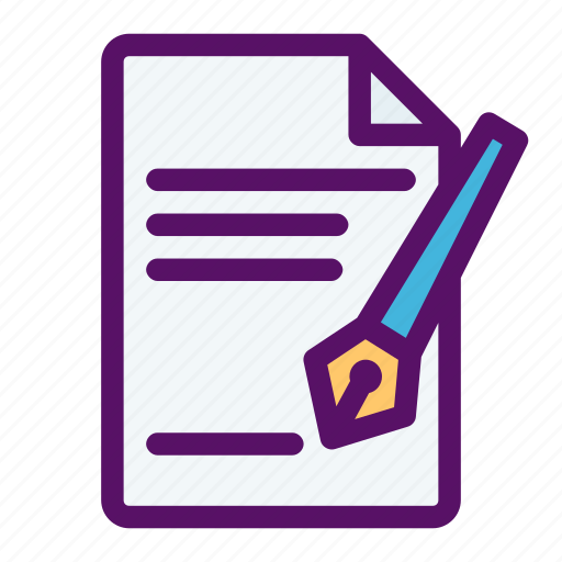 agreement, contract, legal, paperwork, signature icon