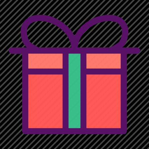birthday, gift, holiday, season, wrap icon