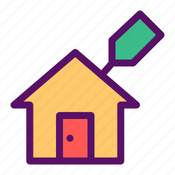 building, house, leasing, rent, sell icon