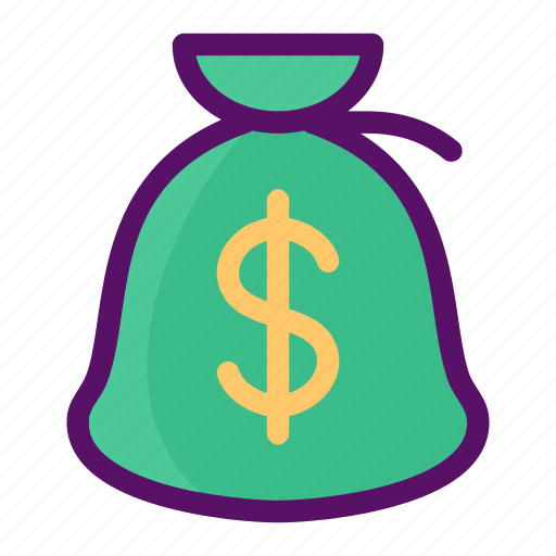 bag, bank, coin, commerce, money icon