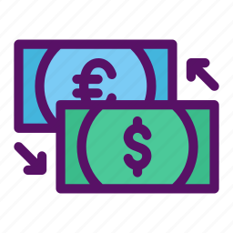 currency, exchange, money, rate, transfer icon