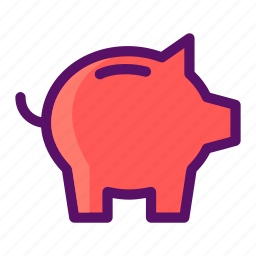 bank, coin, piggy, retirement, saving icon