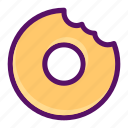 bite, dessert, donut, eat, food icon