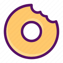 bite, dessert, donut, eat, food icon