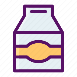 bottle, box, carton, cattle, milk icon