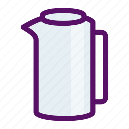 breakfast, drink, jug, pitcher, water icon