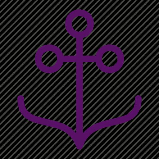 anchor, ocean, sea, ship, travel icon