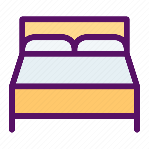 bed, bedroom, home, rest, sleep icon