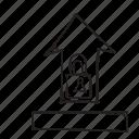 arrow, lock, up, upload icon