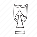 arrow, shield, up, upload
